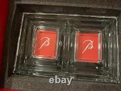 NIB Authentic BACCARAT France LALANDE Crystal Double PHOTO PICTURE FRAME