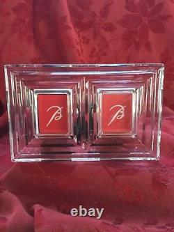 NIB FLAWLESS Stunning BACCARAT France LALANDE Crystal Double PHOTO PICTURE FRAME