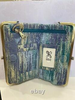 NWT Women's Hobo Multi-Color Leather Double Frame Clutch Wallet Cracked Glass