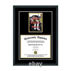 New Diploma Frame with Tassel and Double Matting School Colors UV Asst. Moldings