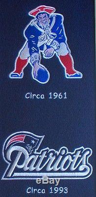 New England Patriots NFL Heritage Wool Double Matted Glass Framed Banner
