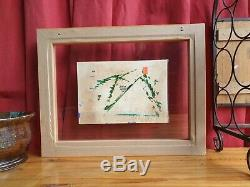 Original Signed Ronnie Kray Painting when in HMP Parkhurst Double Glass Framed