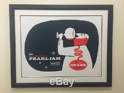 PEARL JAM Santa Barbara 2003 S/N framed poster with double matte & museum glass
