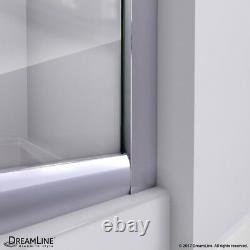 Prime 36 x 36 Frameless Sliding Shower Enclosure with White Base, Frosted Glass