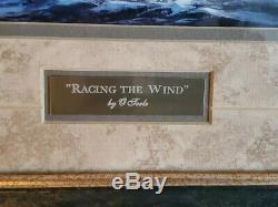 Racing the Wind Michael O'toole print Double matte glass Framed 19Wx17H Sailboat