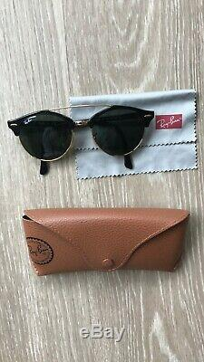 Ray-Ban Clubround Double Bridge Sunglasses RB4346 901 Black Frame/G-15 Lens 51mm