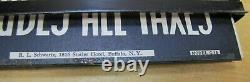 SCHWARTZ NY Old Gas Station Price Double Sided Ad Sign Metal Frame Glass Covers