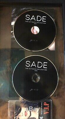 Sade SIGNED! Ultimate Collection 2cds FRAMED double sided glass VIP PASS included