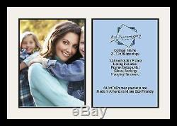 Satin Black Collage Picture Frame with 2 12x16 opening(s), Double Matted