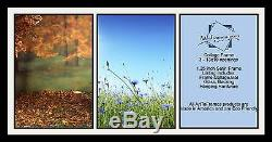 Satin Black Collage Picture Frame with 3 13x19 opening(s), Double Matted
