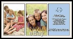 Satin Black Collage Picture Frame with 3 20x30 opening(s), Double Matted