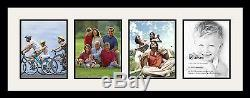 Satin Black Collage Picture Frame with 4 8x10 opening(s), Double Matted