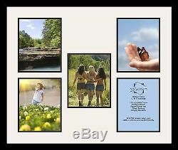 Satin Black Collage Picture Frame with 5 8x10 opening(s), Double Matted