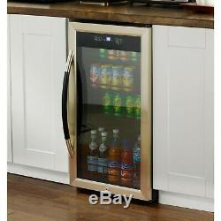 Showcase Beverage Cooler with Stainless Steel Door Frame and Dual-Pane Glass