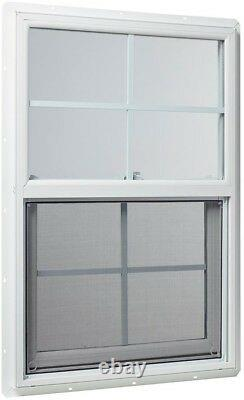 TAFCO WINDOWS Single Hung 23.5 in. X 35.5 in. Double-Pane Vinyl Insulated White