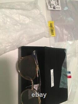Thom Browne Double Lens Stainless Silver Gold Navy Frame/handle Glasses