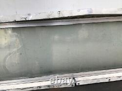 USED Glass WINDOW 2 pc Double Pane Aluminum FRAME for Vintage AIRSTREAM TRAILER
