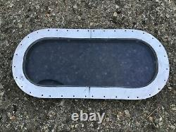 USED TINTED Glass Double Pane WINDOW 2 pc & FRAME for Vintage AIRSTREAM TRAILER