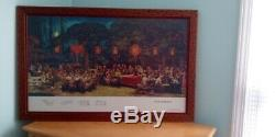 Unique Mao & Chinese leaders assembly Double Frame w matte glass. Collector item