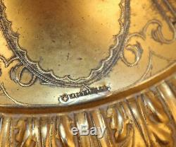 VICTORIAN DOUBLE BRIDES BASKETS WithGILDED FRAME SIGNED BACHMANN
