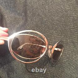 VTG Silhouette CUT OUT Eclipse Silver Glasses Sunglasses Double FRAMES ONLY 64
