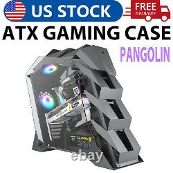 Vetroo K1 Open Frame Mid-Tower ATX PC Gaming Computer Case Dual Tempered Glass
