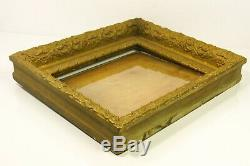 Victorian Gilt Gesso on Wood 8X10 Picture Photo Frame Double Inset with Glass VGC