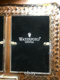Vintage Waterford Crystal Lismore Double Picture Photo Frame 4x6