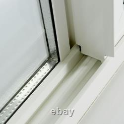 Vinyl Basement Slider Window Left-Hand with Dual Pane Insulated Glass Chose Size