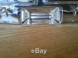 Waterford Crystal Cut Glass Crystal Double Photo Frame 4 x 6 Pictures