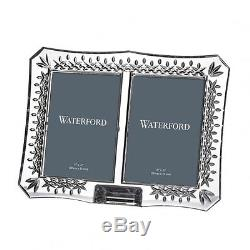 Waterford Crystal LISMORE 4 X 6 Double Picture Frame NEW IN BOX