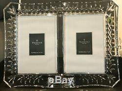 Waterford Crystal Lismore Double Picture Frame 4 X 6-Original Box and Perfect