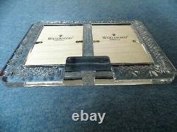 Waterford Crystal Lismore Double Picture Photo Frame 4 x 6 New Without Box