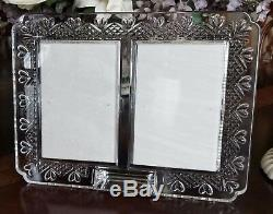 Waterford Crystal Wedding Heirloom Double Picture & Announcement Frame