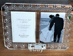Waterford Crystal Wedding Picture Frame Double 4X6 Invitation Wedding Hearts