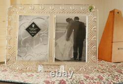 Waterford Crystal Wedding Picture Standing Frame Double 4X6 Wedding Hearts