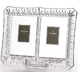 Waterford LISMORE Double Photo Picture Frame for 2 Photos 4x6 #140779 New