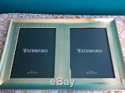 Waterford Lismore Diamond 5-Inch x 7-Inch Double Photo Frame in Gold