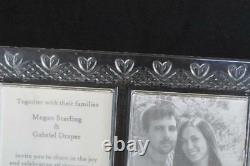 Waterford Wedding Double Picture Frame Made in Ireland Retired