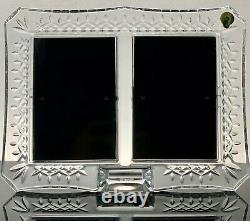 Waterofrd Crysal Lismore Double Picture Frame 4 X 6 Mint In Original Box