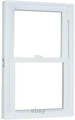 White Vinyl Window 31.75 in. X 45.25 in. Pro Double Hung with Buck Frame