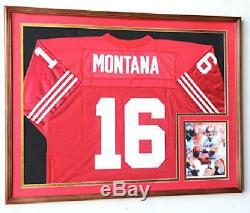 Xl Double Matted Custom Framed Jersey Display Case Frame With98% Uv Protection